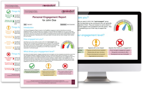 Personalized employee engagement report