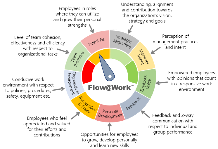 Employee engagement survey model - drivers of engagement