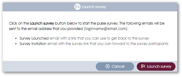 COVID-19 pulse survey wizard step 2 emails